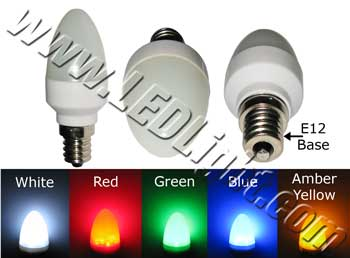 C7 12 LED Light Bulb E12 120V AC