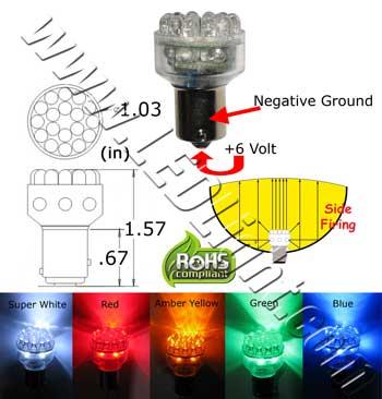 s25 24 led light 6vdc automotive led lights ledlight. Black Bedroom Furniture Sets. Home Design Ideas