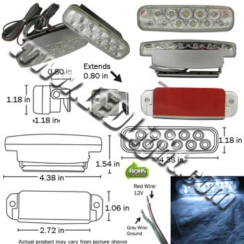 Extreme Bright LED Day Light Driving Lights