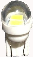 T10 Wedge 2 SMD (5630) (3 Chip) Round Lens 12VDC