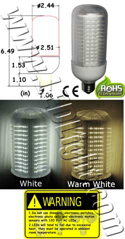 8 Watt LED light Bulb