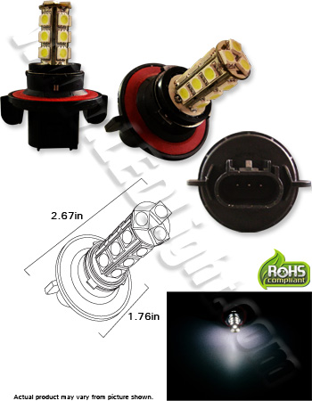 H13 18 5050 (3 Chip) Daylight Running/Fog LED Light Bulb
