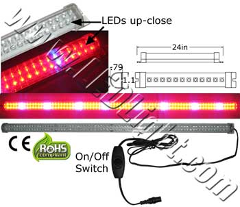 LED Tube Grow Light 24 Inch 12 Volt DC