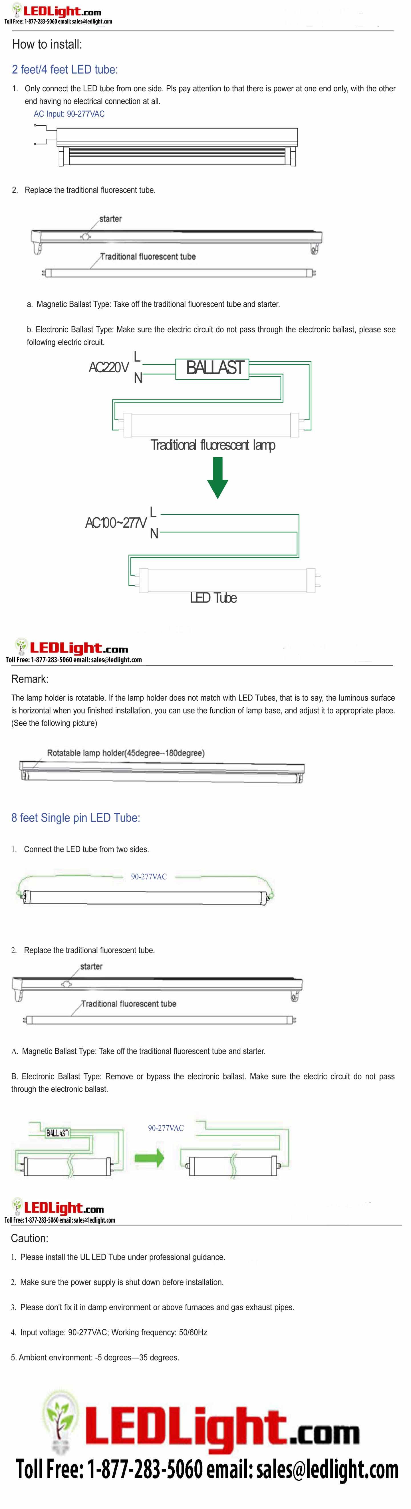 8 Foot LED Tube Lights