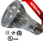 Par 20 LED Dimmable 5 Watt 120VAC 80 Degree E27