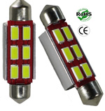 Festoon 42mm 6 LED 3 Watt 12VDC/AC 1-3/4-Inch