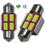 Festoon 31mm 2 Watt 4 x 5730 SMD 12V AC/DC 1-1/4-Inch