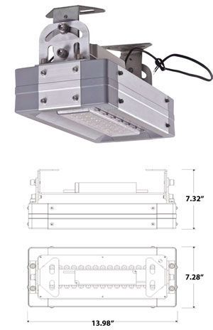 Image for 40 Watt High Bay LED Light 100-277 VAC 110 Degree