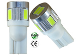 194 LED Bulb T10 Wedge Base 6 5630 12V DC T3 1/4