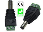 Connector male 5.5mm x 2.5mm