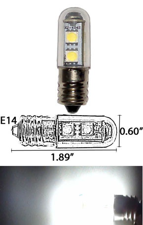 7 5050 SMD LED Light Bulb E14 120VAC