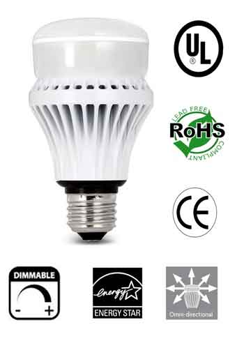A19 12 Watt Dimmable 120V E27 Omnidirectional UL