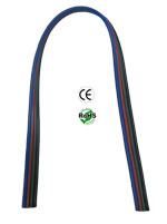 Wire, RGB Color, 4 Wires, 20 Awg, Stranded, 6 Inches