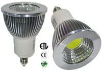 E11 6 Watt MCOB Floodlight 120VAC Dimmable 80 Beam ETL
