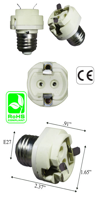 E27 male To GX12 female Adapter Lamp Holder Converter