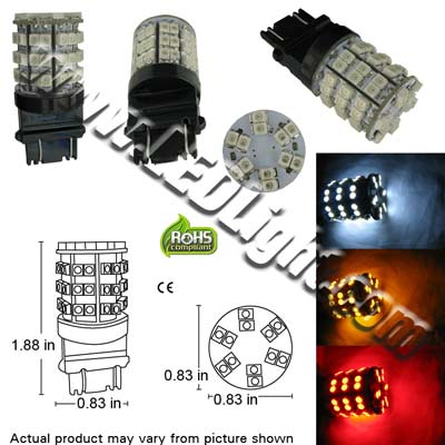 Image for T25 Wedge 3156 3157 60 3528 Ultra Bright SMD LED Light 12V DC