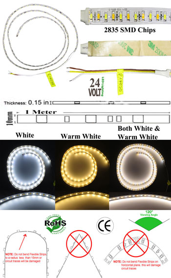 Image for Flexible LED Kelvin Changing 1 Meter 24 Volt DC
