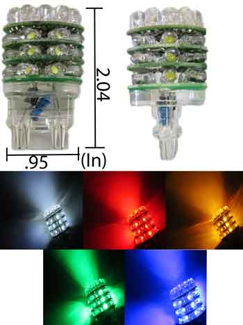 36 Super Bright T25 3156/3157 LED Bulb 12V DC