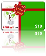 Gift Card LED Light Go Green Values from 10, 25, 50, 100,
