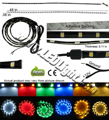 5050 SMD Water Resistant Flexible 12 VDC 48 Inch