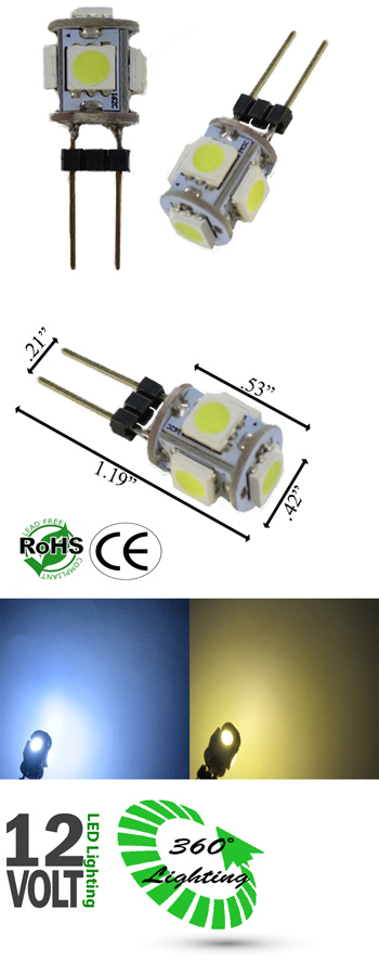 G4 GY6.35 JC 360 Degree 5 SMD 5050