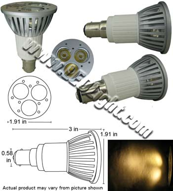 picture of ba15 led light bulb