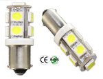 #1819 Miniature Bulb BA9S Base 9 5050 SMD LED 12V DC T3 1/4