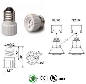E26 male To GZ10 female Converter Adapter