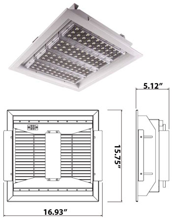 Image for 120 Watt High Powered Recessed LED 100-240VAC