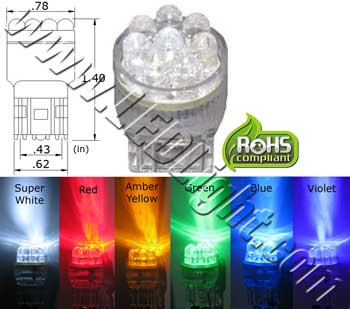 T20 Wedge 8 LED Light 12VDC