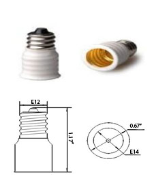 E12 male to E14 female Converter Adapter