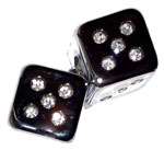 LED Dice with Cigarette Plug in Adapter 12V DC 1 Pair