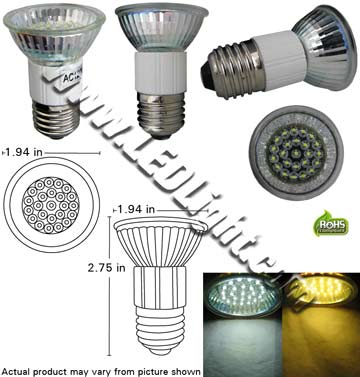 PAR16 24 LED 1.3 Watt 120 VAC