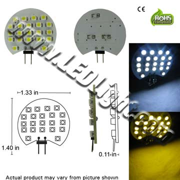 G4 GY6.25 JC 21 SMD 3528 LED Light Bulb 12V GX4.0 Base