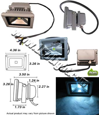 LED Light 10 Watt Floodlight 90-265VAC