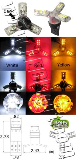 Spider T20 Wedge LED Bulb 12 VDC