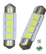 Festoon SMD 4 LED Light 12 VDC 40mm 1-3/4-Inch