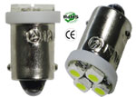#1155 Miniature Bulb BA9S Base 4 3528 LED 12V DC T3 1/4