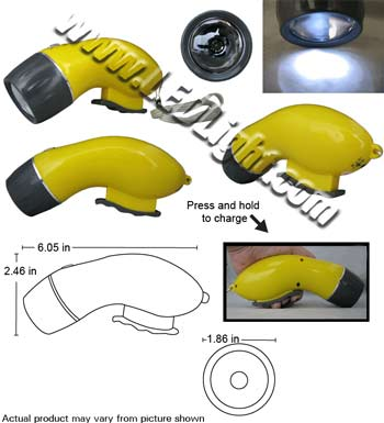 XC-226 LED Light Flashlight Self Powered