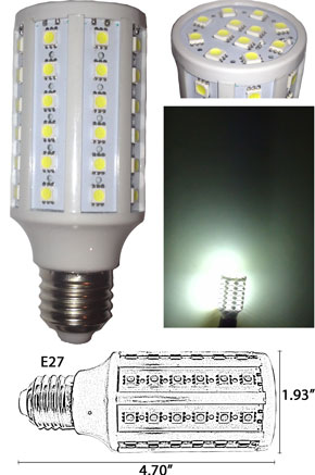 Light Bulb 6 Watt 60 5050 SMD 360 degree E27 120VAC
