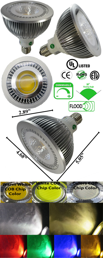 Par38 LED Bulb 18 Watt Dimmable 80 Degree E27 120 VAC