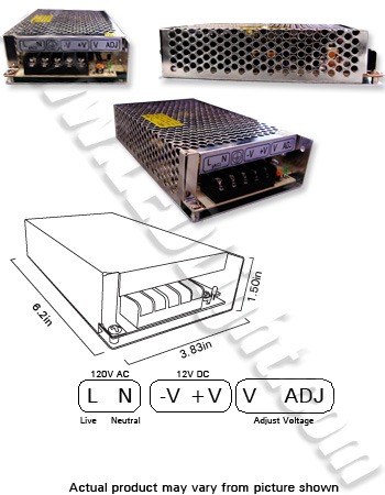 Image for Power Supply 12 VDC 50 Watt Output Voltage 85-265 VAC Input
