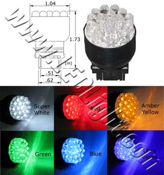 T25 Wedge 19 LED Light 12 VDC