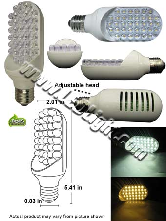 36 L.E.D. Side Firing Adjustable LED Light Bulb