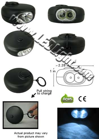 Round Pull String LED Flashlight