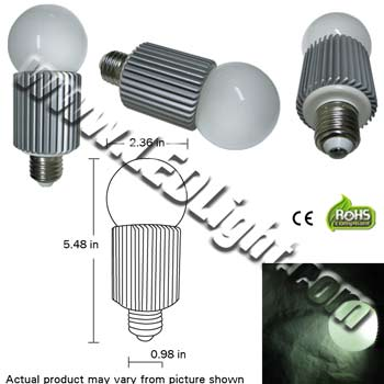 Image for Standard Ultra Bright 8 Watt LED Light Bulb
