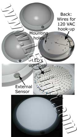 Motion Activated LED Light Fixture NCNR