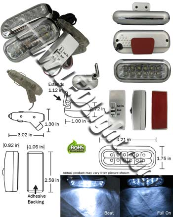 LED Driving Lights 1 Pair Low Profile