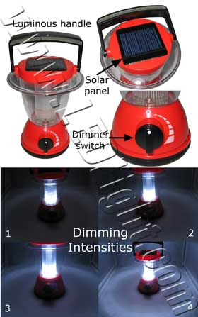 LED Camping Lantern Charge by Solar Power