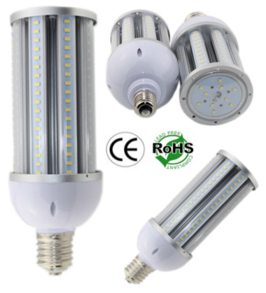 E26/E27 36 Watt LED Corn Bulb Clear Lens 85-305 Volt AC